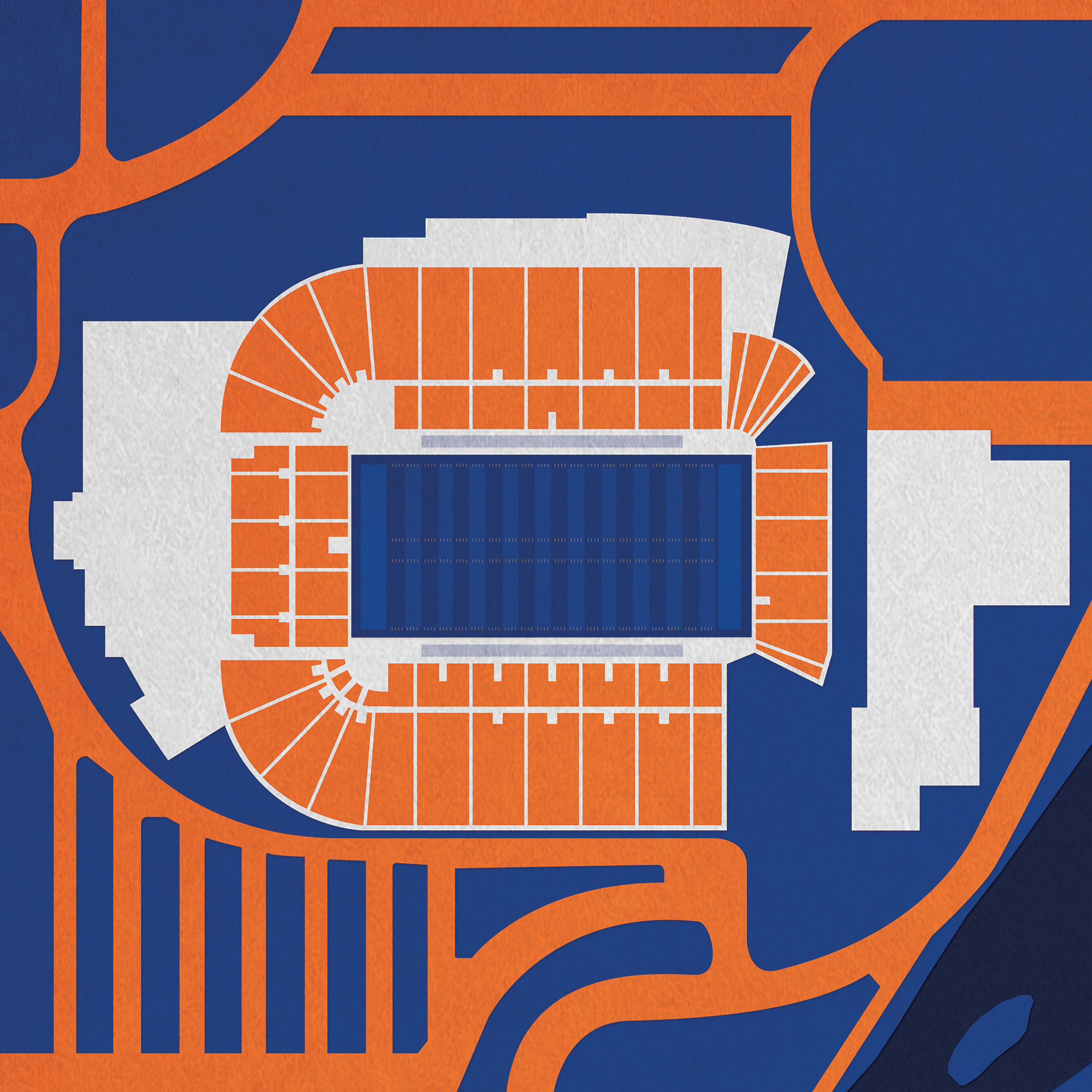 Albertsons Stadium Map Art  City Prints