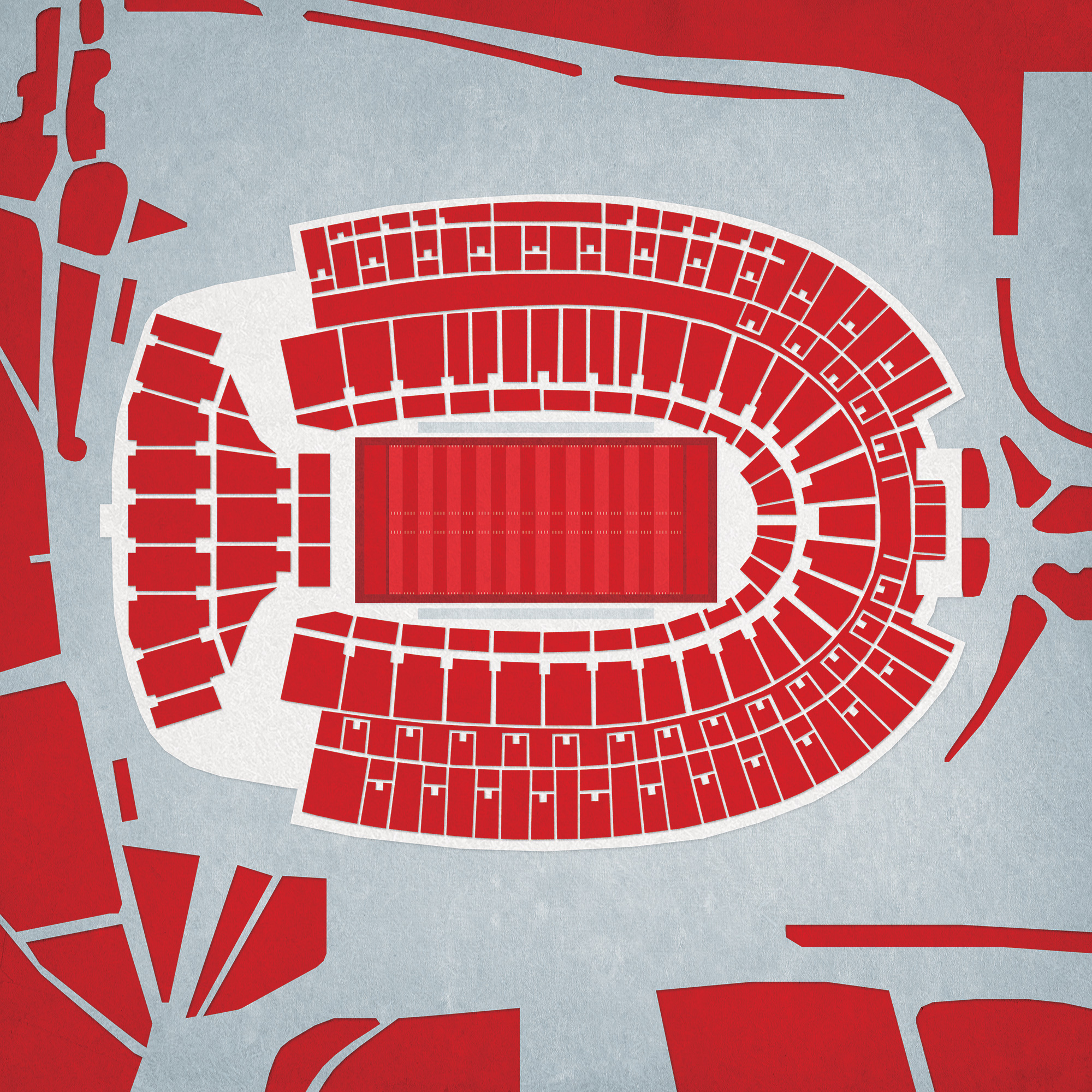 Ohio Stadium Map Art City Prints
