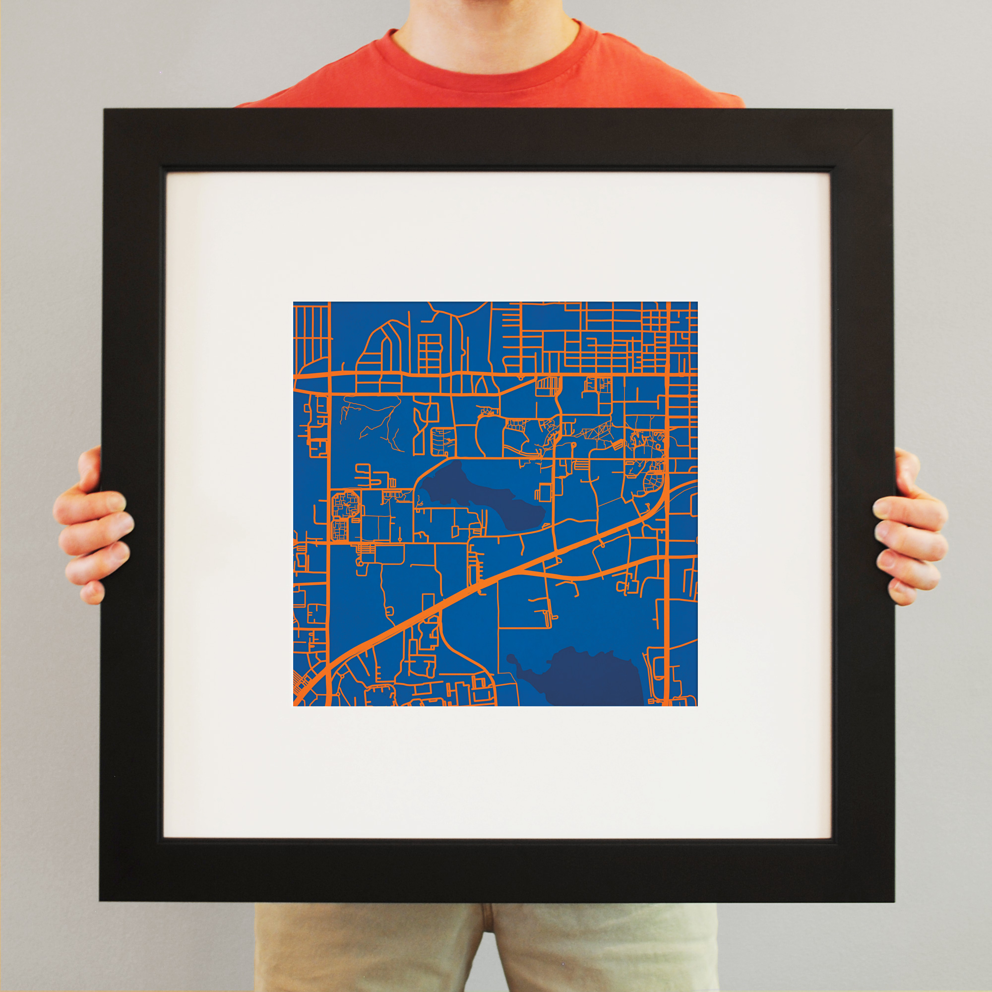 University of Florida Campus Map Art on