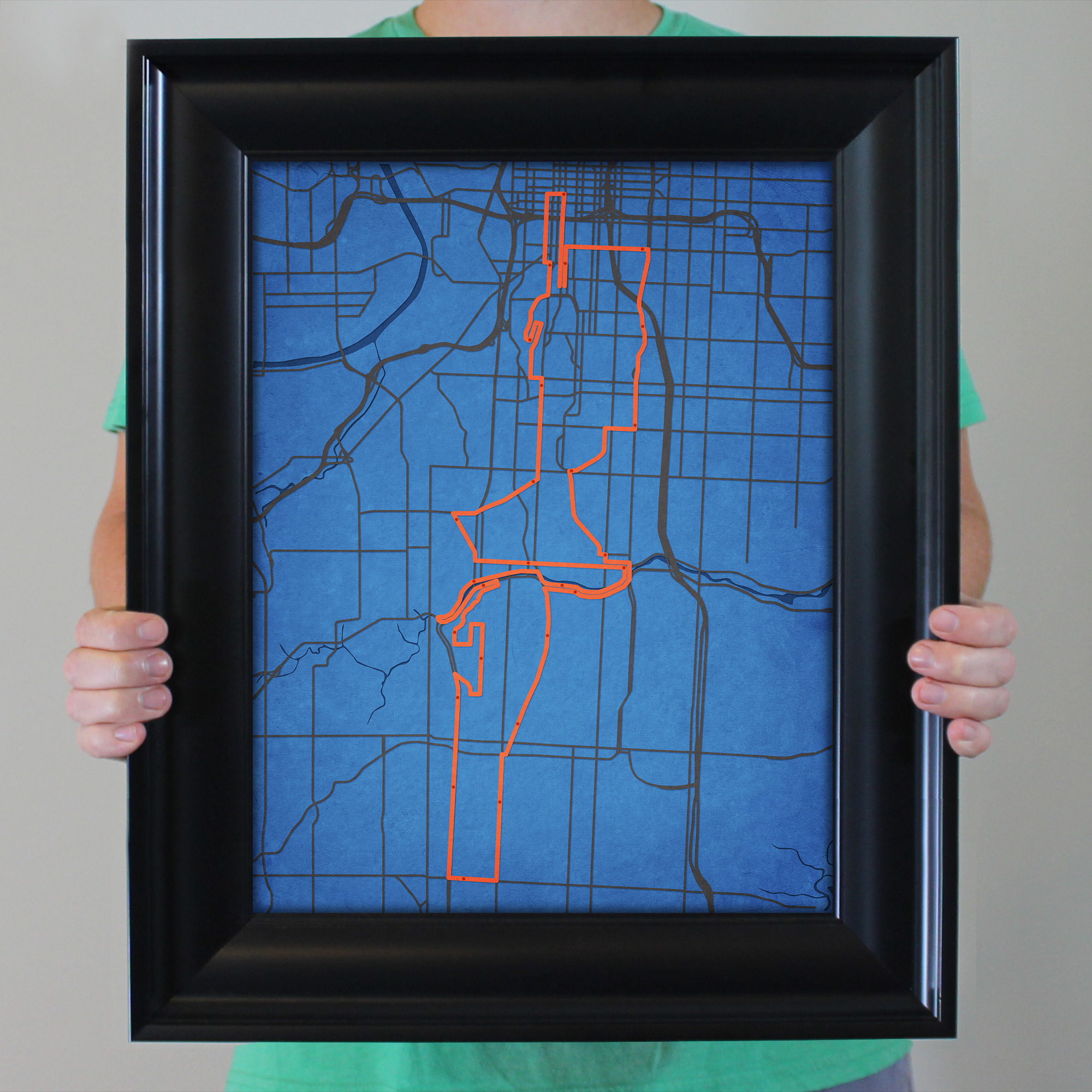 Waddell Amp Reed Kansas City Marathon Course Map  City Prints